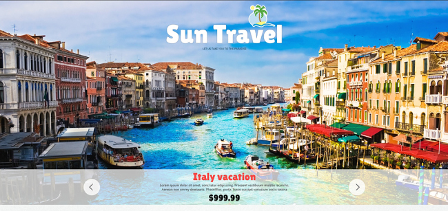 site pentru agentie de turism